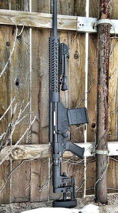 A high-powered rifle.