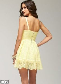 Donna Morgan yellow eyelet dress. I think this is really cute but ...