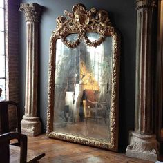 Palace Size Giltwood and Gesso Mirror