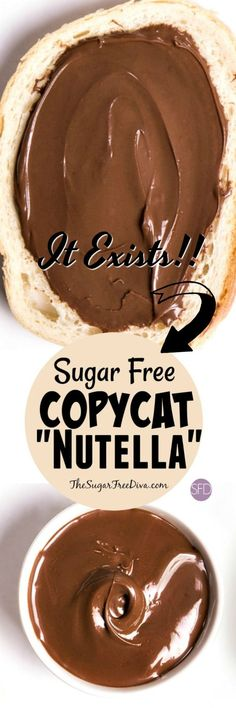 Yes it exists! The Recipe for how to make (copycat) nutella that is also sugar free. This is perfect for that fall baking cookies, cakes and other snacks and desserts too!! YUMMY!! #sugarfree #dessert #recipe #easy