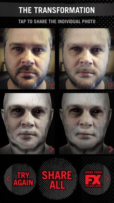 """Turn Yourself Into a Vampire? There's an App for That - Freak out your friends! Inspired by the FX TV series, """"The Strain"""" Transformation app transforms humans into super creepy vampires."""