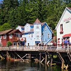 Ketchikan Alaska~  Don't forget to visit Dolly's House!!