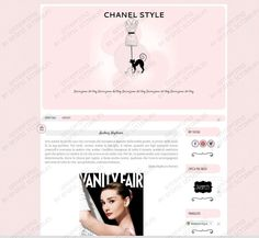 Responsive Template Chanel Style for Blogger http://graficscribbles.blogspot.it/2015/11/responsive-template-.html