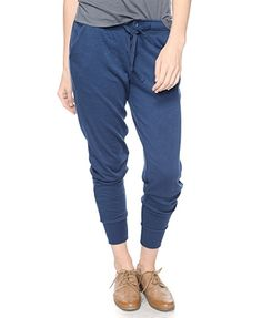 Ribbed Trimmed Athletic Pants - StyleSays