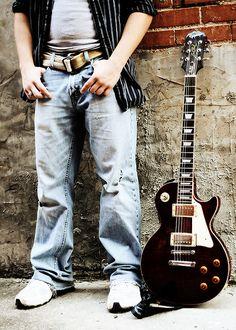 Senior boy guitar