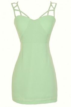 Climbing The Ladder Dress in Sage