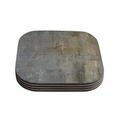 Kess InHouse CarolLynn Tice 'Overlooked' Gray Coasters