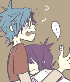 (2d and noodle OPEN RP,Im Noddle)*blushes*You dork!