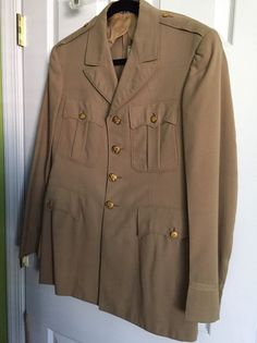Vintage WWII US Military Officer Tunic Jacket Rare Hart Schaffner Marx Navy Army  | eBay