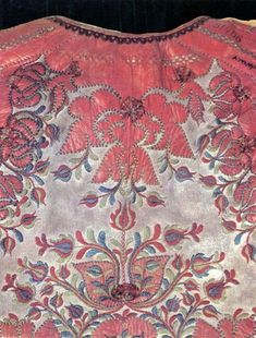 Balassa–Ortutay: Hungarian Ethnography and Folklore / List of Sources for Colour Plates Hungarian Embroidery, Folk Embroidery, Embroidery Patterns, Creative Embroidery, Leather Art, Clothing And Textile, Historical Costume, Chain Stitch, Embroidery