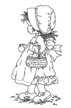 Ideas For Embroidery Girl Sarah Kay Baby Coloring Pages, Adult Coloring Book Pages, Coloring Books, Floral Embroidery Patterns, Embroidery Hoop Art, Creation Art, Amish Quilts, Outline Drawings, Fabric Painting