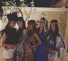 Shimmery outfits and tribal head gears, these girls surely know how to let their hair down