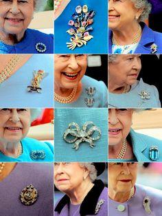 HM Queen Elizabeth II Brooches 1 Hm The Queen, Royal Queen, Her Majesty The Queen, Royal Crowns, Royal Tiaras, Tiaras And Crowns, Queen Elizabeth Jewels, Queens Jewels, Isabel Ii