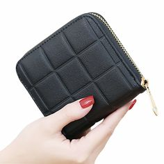 4.14$  Buy here - http://ali2l5.shopchina.info/go.php?t=32773875688 - Fashion Small Plaid Women Wallet and Purses Short Zipper Wallet for Coin with Card Holder Female Money Bags Pink Lovely Style 4.14$ #buychinaproducts
