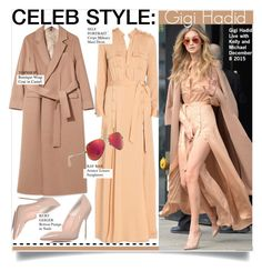 """""""Celeb Style-Gigi Hadid"""" by kusja ❤ liked on Polyvore featuring Kurt Geiger, Topshop, Ray-Ban, Stealherstyle, celebstyle and gigihadid"""