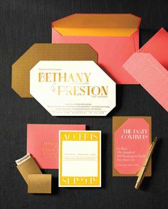 6 Ways to Pull Off a Coral and Gold Color Palette | Martha Stewart Weddings