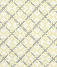Waverly Square Root Sterling Fabric #yellow #grey