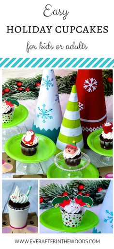 Easy Holiday Cupcakes for the Classroom and beyond! #oreintaltrading #ad #kids #christmas #cupcakes #holidayparty #christmasparty