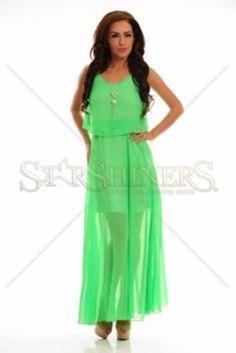 Rochie LaDonna Flawless Waves Green