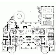 Eplans Mediterranean House Plan - Bring the Outdoors In - 2831 Square... ❤ liked on Polyvore