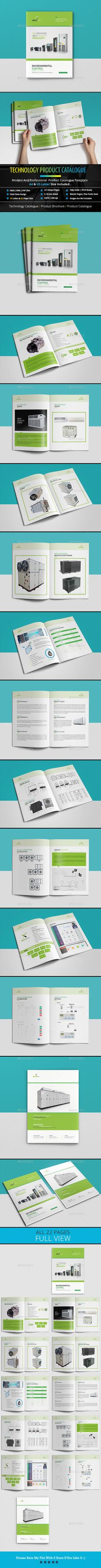 Technology Product Catalog Template InDesign INDD - 22 Unique Pages - A4 & US Letter Size