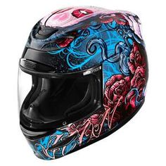 WOMEN'S AIRMADA SUGAR HELMET XXS to XL $250.00 Check out http://www.motorcycle-superstore.com/69503/i/icon-womens-airmada-sugar-helmet