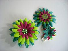 Cute DIY flower hairbows