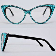 """Handmade with Crystal Cat Eye glasses • Size : 6"""" W, 2"""" L *As seen on Wendy Williams"""