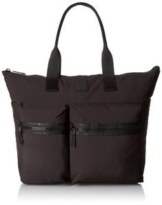 f15379261bcc Tommy Hilfiger Sport Nylon Large Tote Top Handle Bag Black One Size -- You  can