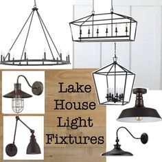 Lake House Light Fixtures - The Lilypad Cottage Lyndi Scholl lyndischoll Home Living Lake House Light Fixtures - a variety of rustic lake house lighting that is reasonably priced and perfect for a cottage or lake house Lyndi Scholl Lake House Light Cottage Lighting, Cabin Lighting, Rustic Lighting, House Lighting, Lighting Ideas, Club Lighting, Rustic Lake Houses, Rustic Cottage, Rustic Cabins