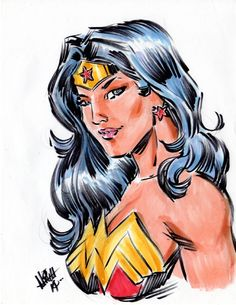 Wonder Woman Comic Art