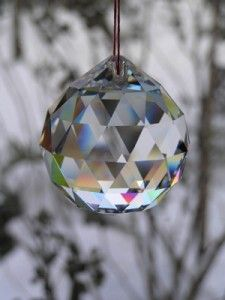 Hanging prisms from the trees to catch the light