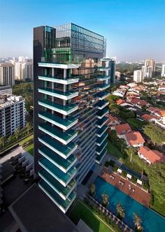 The world's first Hermes apartment (Singapore) Check out the balcony pools!