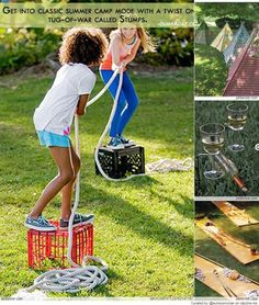 Great Summer Camp Ideas @Glenda Thornton Thornton Moore This is perfect!