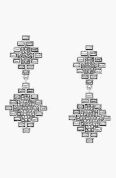 Fun art deco inspired crystal drop earrings to rock with a little black dress.