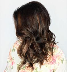 Caramel Babylights For Brown Hair
