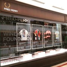 @papercarpenter Fred Perry Window...Instagram photo | Websta (Webstagram)