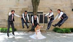 POWER! Wedding party does the Dragonball Z pose by MeghanMaloney.deviantart.com on @deviantART