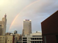 Beautiful Rainbow Downtown St.Paul, Mn.  www.prestigepropertyreservations.com #st.paul #downtown #minnesota #rainbows