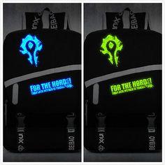 New World Of Warcraft Horde Noctilucence School Bag Horde Vector Backpack