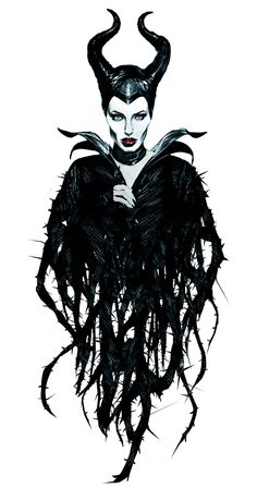 Angelina Jolie as Maleficent in colour on Behance
