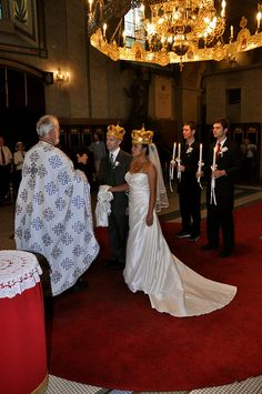 Crowned majesty at a Serbian wedding.