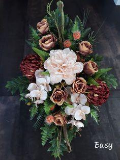 Church Flowers, Funeral Flowers, Funeral Flower Arrangements, Floral Arrangements, Funeral Sprays, Deco Floral, Vegetable Garden Design, Ikebana, Fabric Flowers