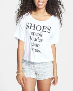 Shoes speak louder than words.