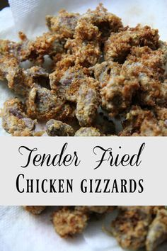 Recipe: How to Fry Tender Chicken Gizzards - Here's how to fry tender chicken gizzards for your family. This delicious crispy recipe is easy t - Fried Chicken Gizzard Recipe, Chicken Liver Recipes, Chicken Giblets, Meat Recipes, Cooking Recipes, Chicken Gravy, Chicken, Tasty, Kitchens