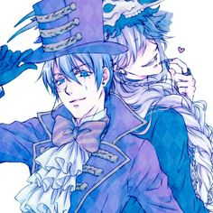 Black Butler // Kuroshitsuji - Vincent Phantomhive and Undertaker Anime Yugioh, Anime K, Anime Body, Anime Pokemon, Anime Plus, Film Anime, Anime Girls, Black Butler Ciel, Black Butler Undertaker