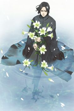 Severys Snape in water with lilies. :'(