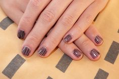 nail design | Nail design in linear lines handmade this is special design for unique ...