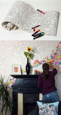 Papel de parede para colorir