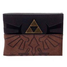 The Legend Of Zelda Brown Symbol Bi-Fold Wallet - Radar Toys  - 1